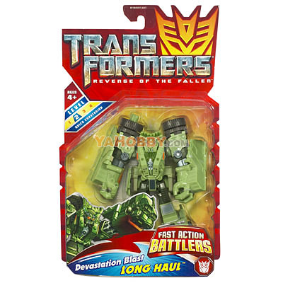 Transformers 2009 Movie 2 ROTF Devastation Blast Long Haul
