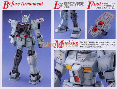Gundam Master Grade 1/100 Model Kit RGM-79N GM Custom