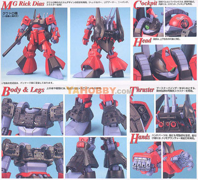 Gundam Master Grade 1/100 Model Kit Rick-Dias Red Version