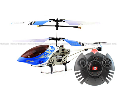 SanHuan 6020-1 MAX-Z Swift 3CH RC Helicopter RTF w/ Gyro Blue