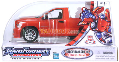 Transformers Hasbro Alternators Dodge Ram SRT-10 Optimus Prime