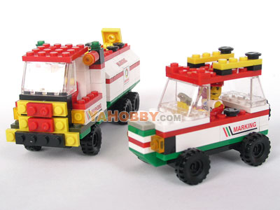 LWDRAGON Building Blocks Bricks GAS TRUCK 19114