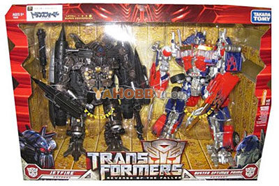 Transformers Leader Class Buster Optimus Prime Jetfire Giftset