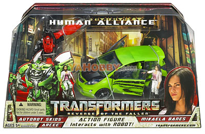 Transformers Movie 2 Human Alliance Skids with Mikaela Banes