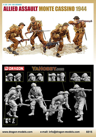 1:35 Dragon Allied Assault Monte Cassino 1944 6515