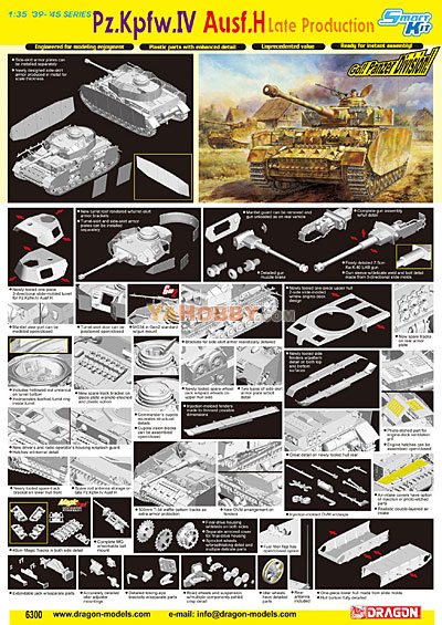 1:35 Dragon PzKpfw Panzer IV Ausf.H Late Production 6300
