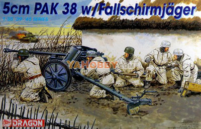 1:35 Dragon 5cm PAK 38 with Fallschirmjager 6118