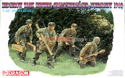 1:35 Dragon Hedgerow Tank Hunters Fallschirmjager 1944 6127