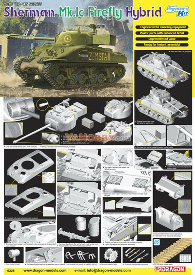 1:35 Dragon Sherman Mk Ic Firefly Hybrid Smart Kit 6228
