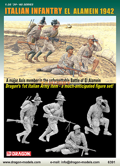 1:35 Dragon Italian Infantry El Alamein 1942 4 Figures Set 6391