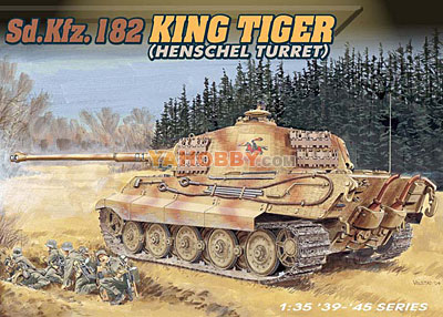 1:35 Dragon Sd Kfz 182 King Tiger Henschel Turret 6208