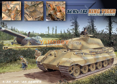 1:35 Dragon King Tiger Sd Kfz 182 Porsche 6189
