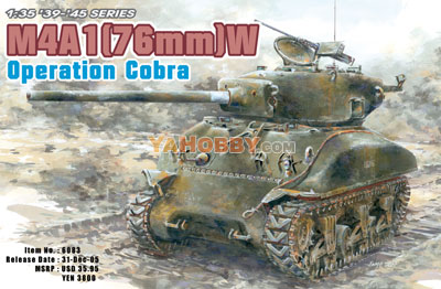 1:35 Dragon Sherman M4A1(76)W Operation Cobra 6083