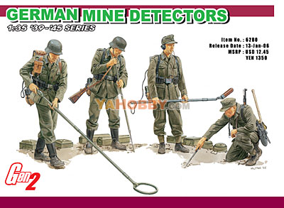 1:35 Dragon German Mine Detectors GEN 2 6280