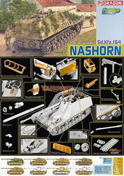 1:35 Dragon SdKfz 164 Nashorn Premium Edition Kit 6314