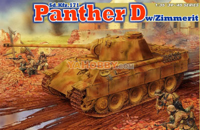 1:35 Dragon Panther D SdKfz 171 with Zimmerit Coating 6428