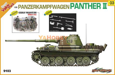 1:35 Dragon PANZERKAMPFWAGEN PANTHER II Value Pack 9103