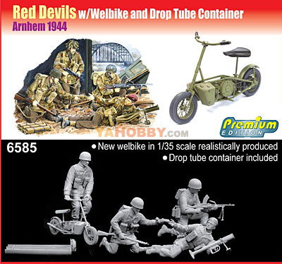 1:35 Dragon Red Devils w/Welbike and Drop Tube Container 6585