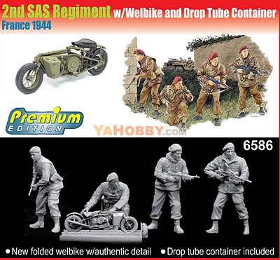 1:35 Dragon 2nd SAS Regiment w/Welbike and Drop Tube 6586