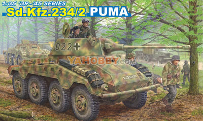 1:35 Dragon Tank Model Kits SdKfz 234/2 Puma 6256