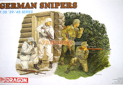 1:35 Dragon Military Model Kit German Snipers Figure Set 6093