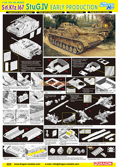 1:35 Dragon SdKfz 167 StuG IV Early Production Smart Kit 6520
