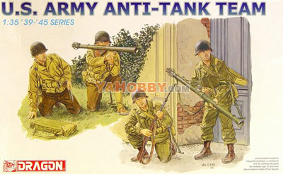 1:35 Dragon Military Model Kit WWII US Army Anti-Tank Team 6149