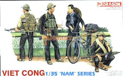 1:35 Dragon Military Model Kit Viet Cong Figure Set 3304