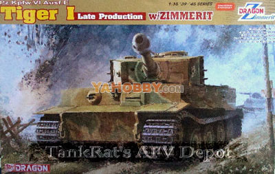 1:35 Dragon Tiger I Late Production w/Zimmerit 6383