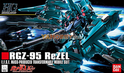 Gundam HGUC 1/144 Model Kit RGZ-95 ReZEL