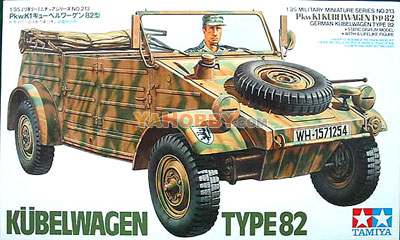 1:35 Tamiya Model Kit Kubelwagen Type 82 35213