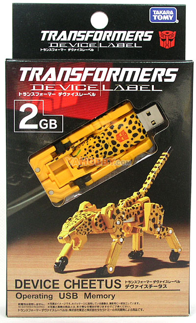 Transforemrs Device Label USB Flash Memory (2 GB) Cheetor