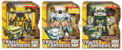Transformers 2010 Movie 2 ROTF Voyager Series 01 Set of 3