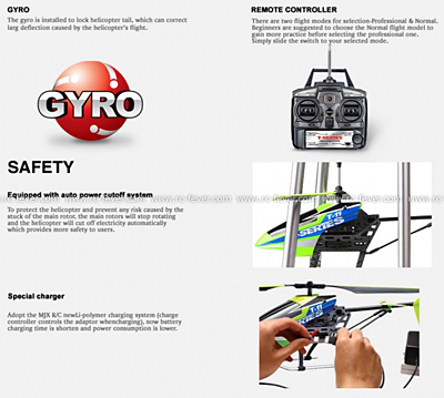 MJX T11 Shuttle 3CH RC Helicopter RTF w/ Gyro Red