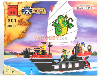 ENLIGHTEN Building Blocks Bricks Pirate BARBARA WARSHIP 301