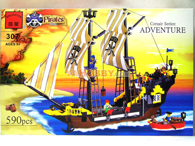 ENLIGHTEN Building Blocks Bricks Warship Adventure 307