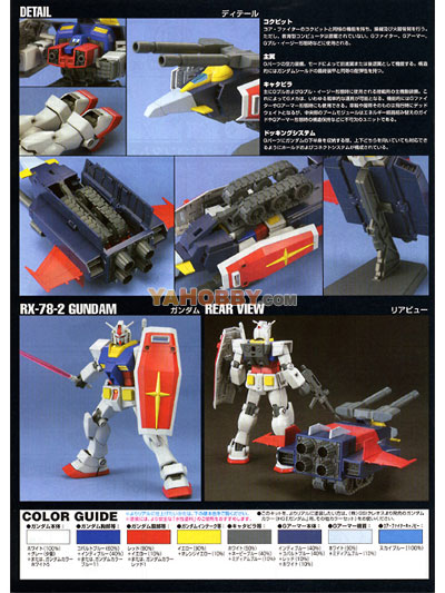 Gundam HGUC 1/144 Model Kit G-Armor (G-Fighter+RX-78-2 Gundam)