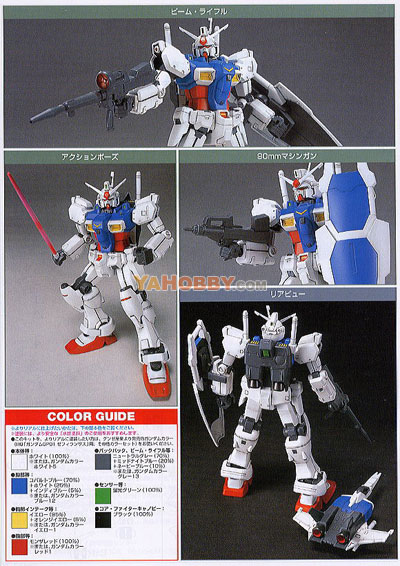 Gundam HGUC 1/144 Model Kit RX-78GP01 Gundam