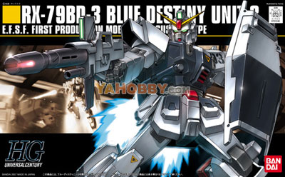 Gundam HGUC 1/144 Model Kit RX-79BD-3 Blue Destiny Unit 3