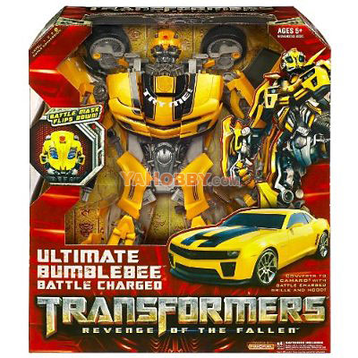 Transformers 2009 Movie 2 ROTF Ultimate Battle Charged Bumblebee